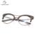 Nova moda olho de gato óculos de armação de radiação lente transparente pure Handmade retro fashionVintage frameCS110363 vidros do olho de gato