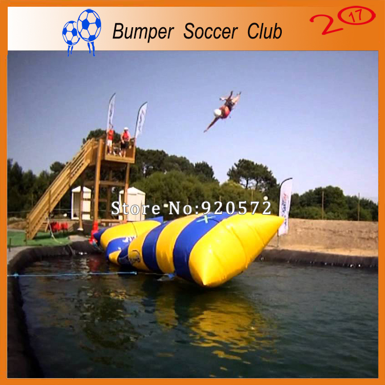 Free Shipping! 6x2m Most popular inflatable water catapult blob Inflatable Blob Jumping water blob jump for sale water pillow