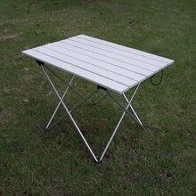 Высокопрочный алюминиевый сплав Портативный Сверхлегкий складной походный стол складной открытый обеденный стол для семейной вечеринки пикника барбекю