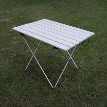 Liga de alumínio de grande resistência portátil ultraleve dobrável mesa acampamento mesa jantar ao ar livre dobrável para a festa da família piquenique churrasco