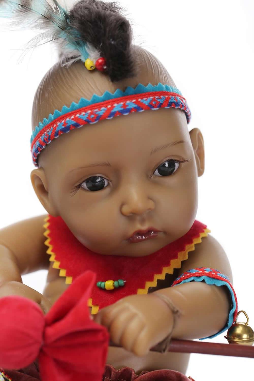 ФОТО 10''Newest style American Indian Realistic Silicone reborn Boy dolls lifelike newborn babies as birthday gift for children
