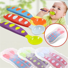 2018 Baby Spoon Fork Set Children Utensil Tableware Infant Feeding Flatware For Baby Feeding 2017 new safety soft spoon baby flatware feeding spoon transparent newborn soft silicone flatware lovely gifts for kids 3 colors