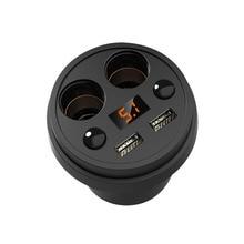Cup Car Charger Multi-function Display Voltage 3.1A 2 USB Car- DC12-24V Cigarette Lighter Splitter For GPS DVR Charge