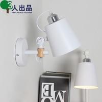 Wood Fold Adjust Loft Mirror Front Wall Light Dining Room Aisle Bedroom Hall Lamp