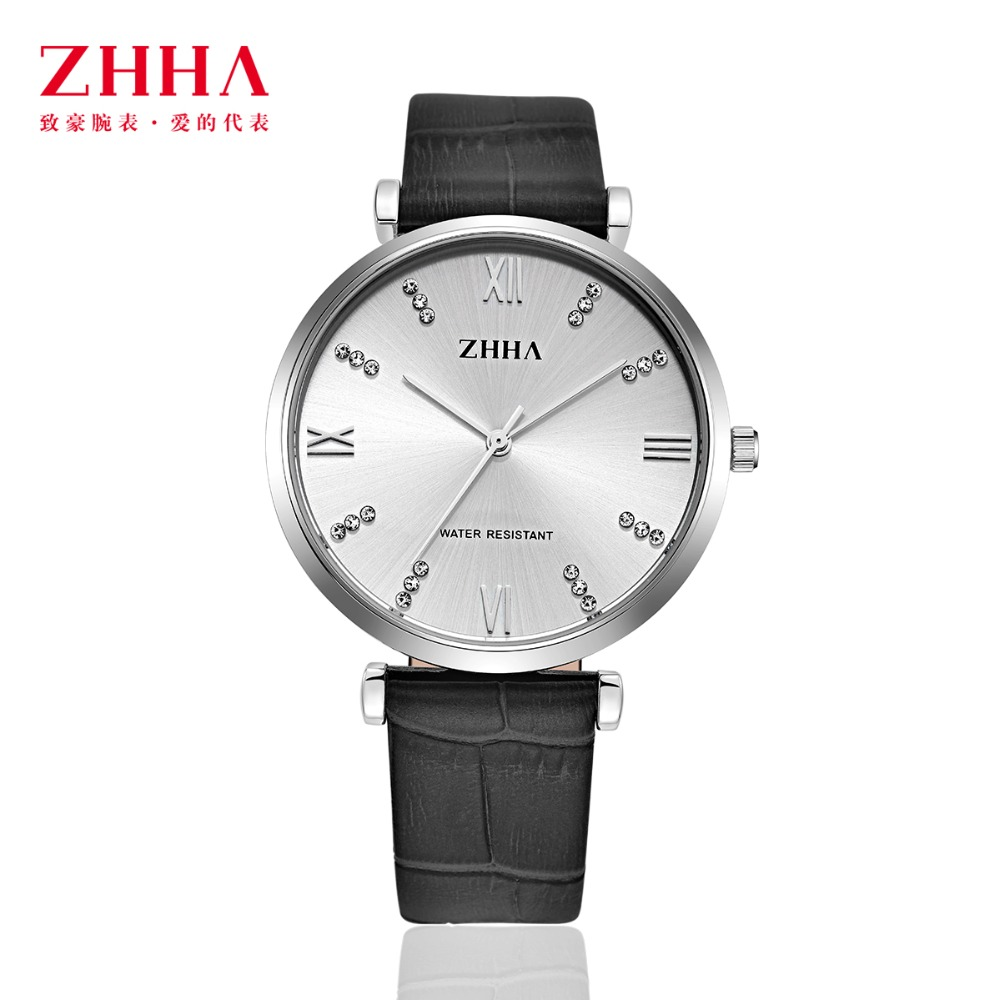 ФОТО ZHHA New Fashion Casual Women Watchs Man Lovers Wristwatch Leather strap Analog Quartz Watch Masculino Feminino Relogio ZWS023