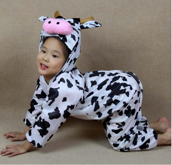 children kids toddler cartoon animal milk cow costume performance jumpsuit childrens day halloween costumes for boy girl c22964 - Halloween Costume Cow
