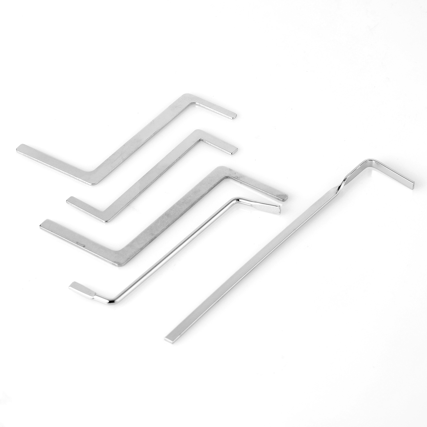 Hot!5 Pcs Locksmith Tools Multifunction Metal Tension Rod/Puch Rod Tubestension Wrench For Locksmith Supply P15 ...