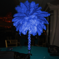 10pcs 20 22inches Beautiful Luxury Style Ostrich Feathers DIY Wedding Party Decorative Celebration Blue Feathers Black/White