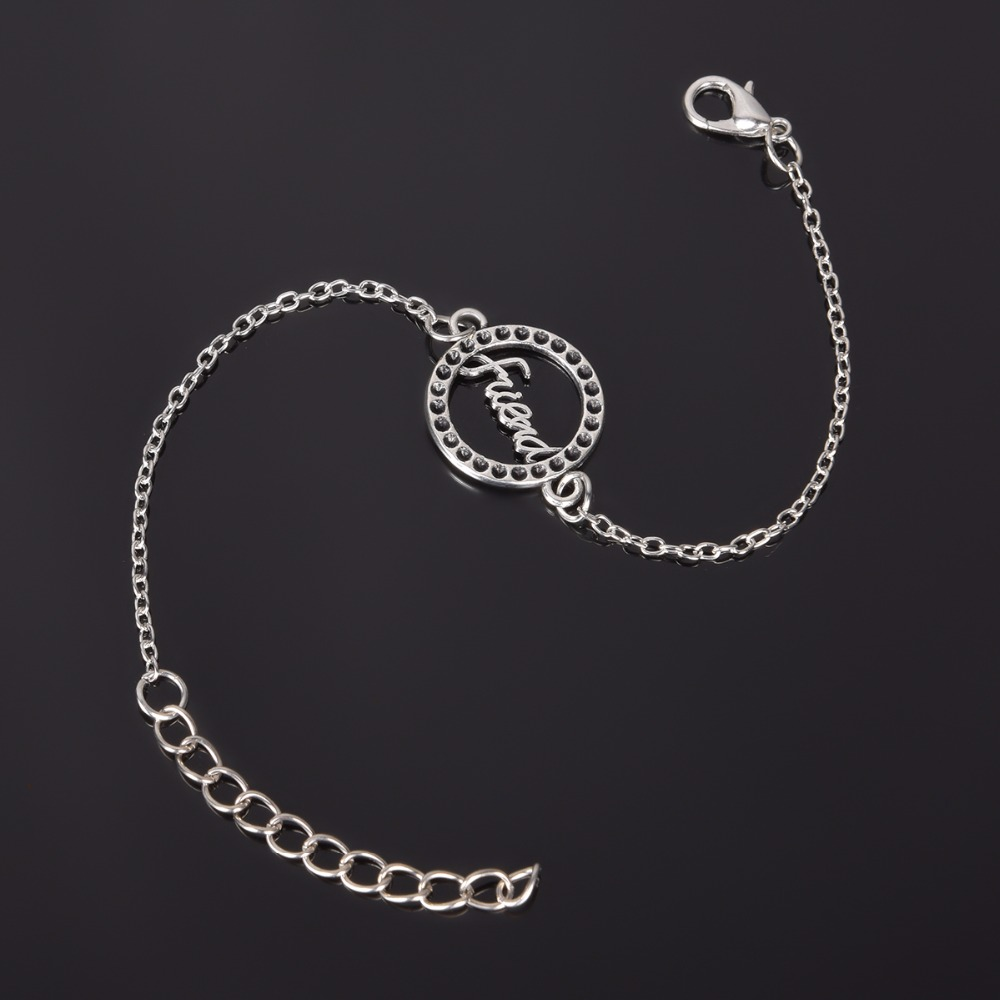 Simple Style Silver Plated Charm Bracelet Jewelry Gift Wedding Banquet Wholesale Top Quality 1 D2 10