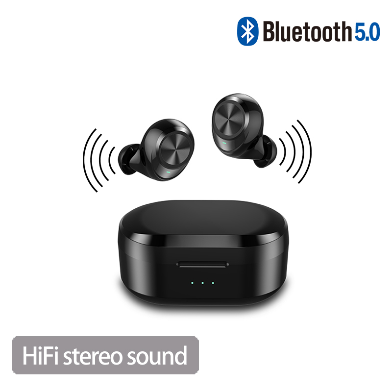tws 5 0 handsfree headset Sport Handsfree Earphone Cordless Headset gaming headphones with Super HiFi Deep Bass for ios Android in Bluetooth Earphones Headphones from Consumer Electronics