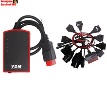 100% Original Wireless WIFI UCANDAS VDM Auto Diagnosis System Online Update+OBD2 OBDII Adapter Converter Cable Diagnostic Cables