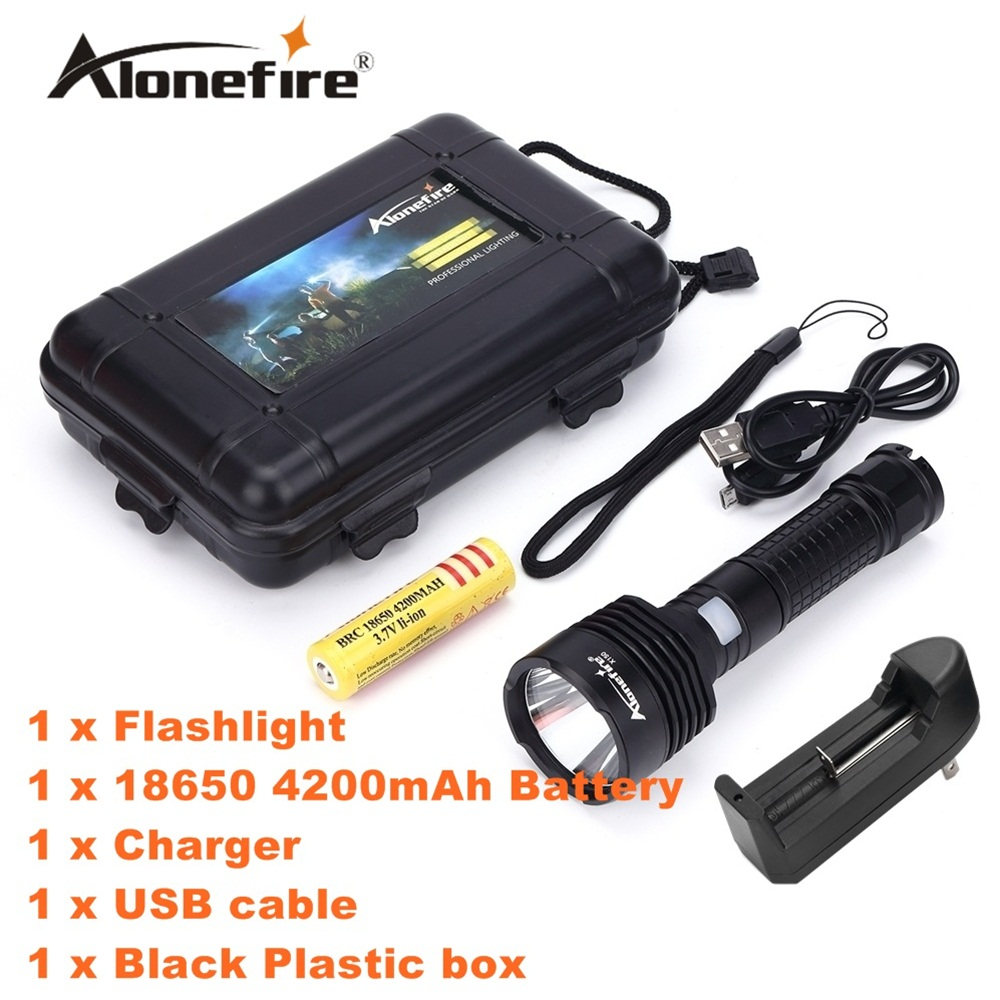 Alonefire X150 CREE LED flashlight XM-L2 LED USB led Flashlight Torch light With 18650 Rechargeable Battery cree xm l t6 bicycle light 6000lumens bike light 7modes torch zoomable led flashlight 18650 battery charger bicycle clip