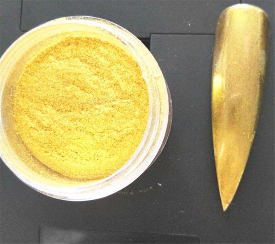 Nail art pigment glitter nagellack dip pulver metallic farbe ...