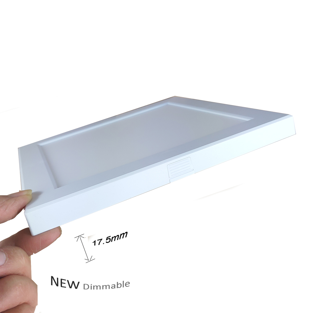 100-120V 230V New Square Dimmable LED Ultrathin Panel Mounted Lamp 18W 1600lm-1800lm