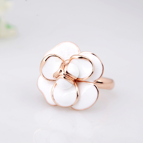 Christmas big sale jewelry ring rose gold white enamel flower ring christmas big sale jewelry ring rose gold white enamel flower ring of engagement ring for women mightylinksfo