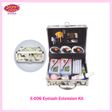2017 False Double Layer Beauty Grafting Eyelash Extension Kit Full Set with Silver Case for Beauty