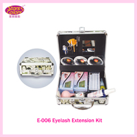 2017 False Double Layer Beauty Grafting Eyelash Extension Kit Full Set with Silver Case for Beauty Salon Makeup