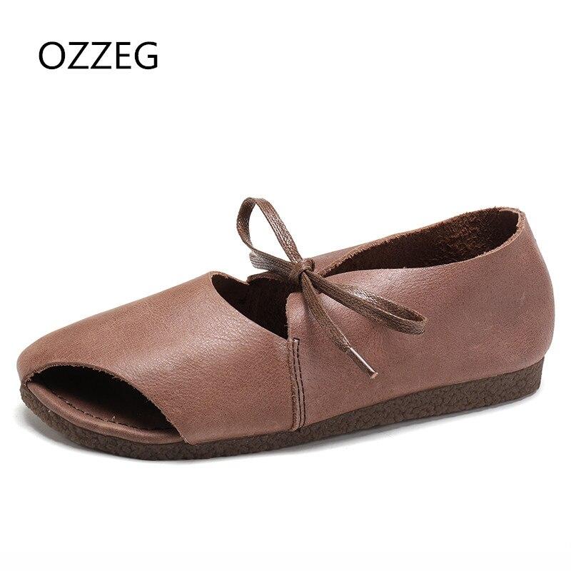Frauen Schuhe Sommer Frauen Casual Flachen Sandalen Schnürschuhe - Damenschuhe - Foto 1