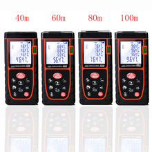 Laser Distance Meter Laser Digital Rangefinder Meter Range Finder Laser Tape Measure Build Device Toulette Ruler 40/60/80/100M leter cp 80 80 m laser rangefinder handheld range finder laser ruler built ranging motor