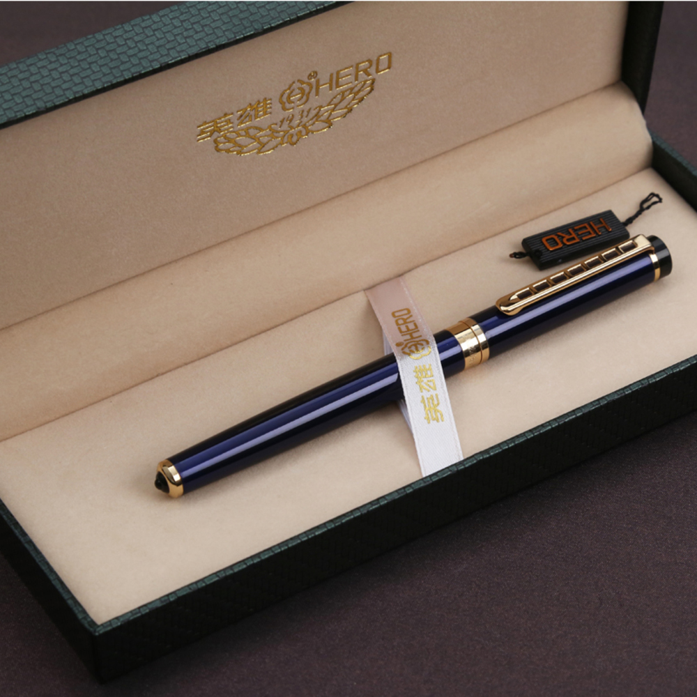 Hero Man Luxury Gift fountain ink Pen nib Box Business High Quality Stationery Office School pens pencils Writing Supplies art authentic hero 9316 fountain pen ink pen iraurita nib 0 5mm calligraphy pen student stationery office business gift box set