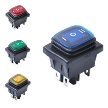 6 Pin 3 Position Rocker Toggle Switch On/Off for Car Truck Boat Motorhome Waterproof Replacement Parts 16A 250VAC or 30A 125VAC 3 position 4pdt on off on 12 pin toggle switch 10a 380vac 15a 250vac