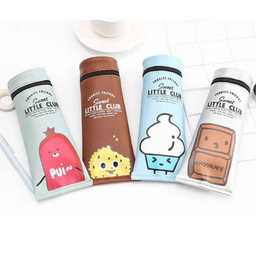 Creative Cute Simulation Milk Cartoons Pencil Case Pouch Storage Bags Kawaii Stationery Pen Bags Case Container Organizer