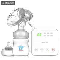 Real Bubee UK Hi-Q Electric breast pump Baby Products breast feeding Intelligent USB Electric breast pumps Milk bottle 8006S