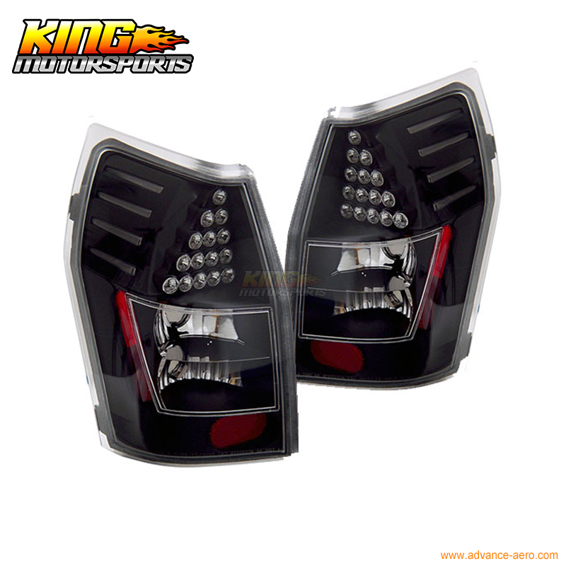 for 2005 2007 06 chrysler 300 300c led tail lights black lamps usa domestic free shipping For 05-08 Dodge Magnum LED Tail Lights Lamps Pairs Black 2005 2006 USA Domestic Free Shipping