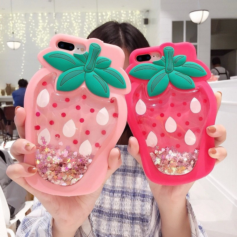 Liquid Glitter Stars Soft Silicone Case For iphone X (8)
