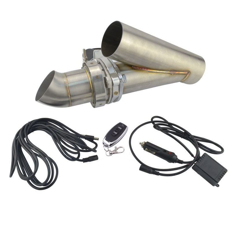 2 Inch Remote Control Cut Out Stainless Steel Y Headers Catback Pair Electric Exhaust Cutout Pipe Kit