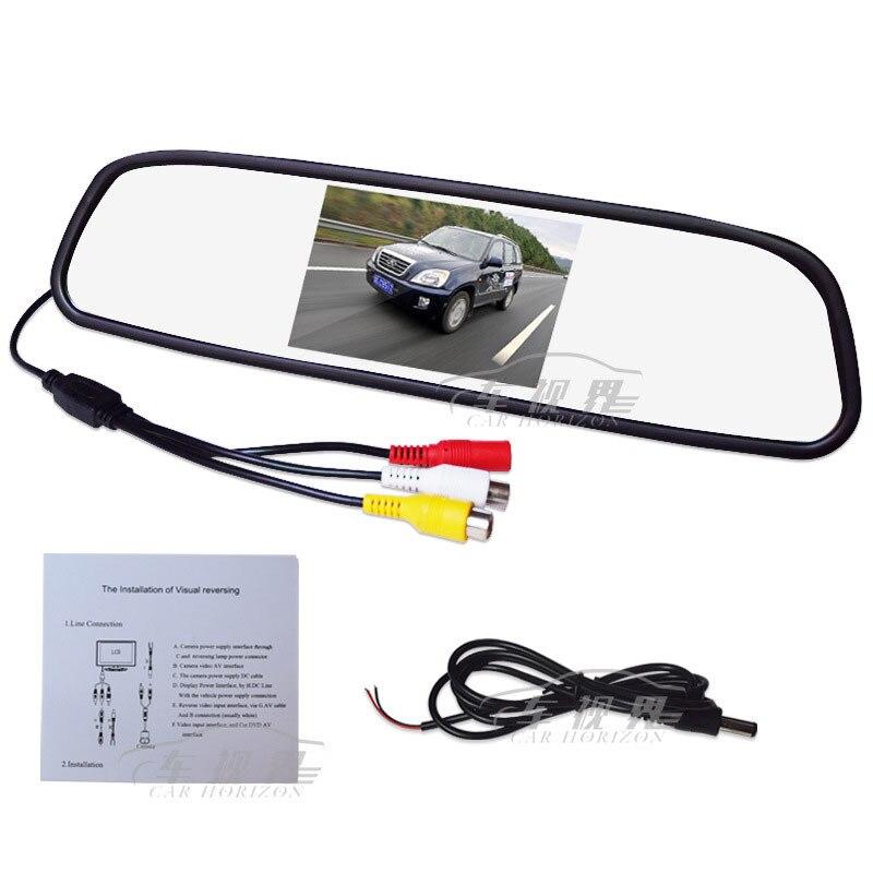 Автомобиль 4.3 дюймов Высокая Ясно Зеркало заднего вида Мониторы назад автомобиль изображения цифровой Экран назад автомобиль первый DVD Дисплей