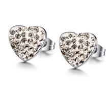 Heart T Earring TIF Rhinestone Women Charm Jewelry Earring pulseiras Fashion Famous Luxury Brand Earrings For Woman