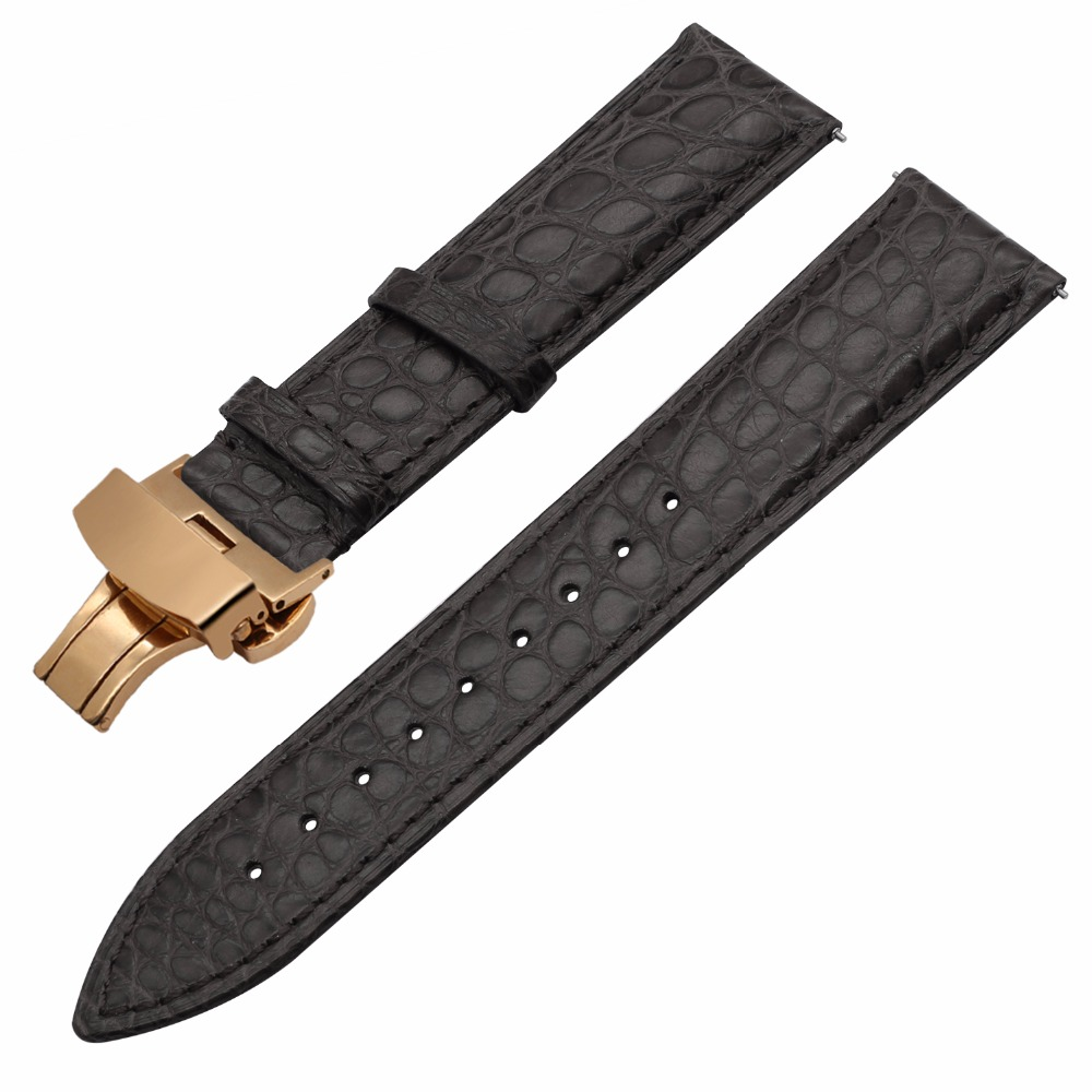 Image 2 - Genuine Alligator Leather Watchband for Orient Jacques Lemans Frederique Constant Watch Band Croco Strap Bracelet 18mm 20mm 22mm-in Watchbands from Watches