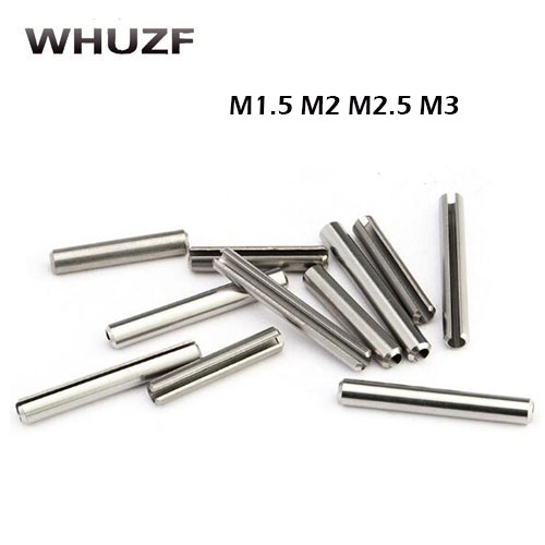10pcs 6 x 35 mm Stainless Steel Slotted Spring Cotter Tension Pins Sellock Roll Pins