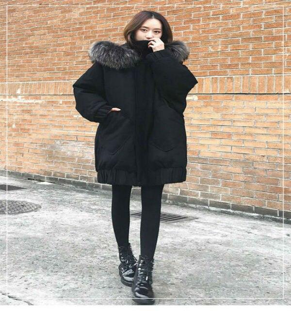 c60c48683e5 XS-XXL New fashion women winter jackets black womens long coats 90% cotton  super warm windproof hooded fur loose thick parkas