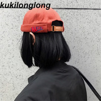 Kukilonglong Winter Berets For Women The Landlord Embroidery Wool Hats For Men And Women Tidal Autumn