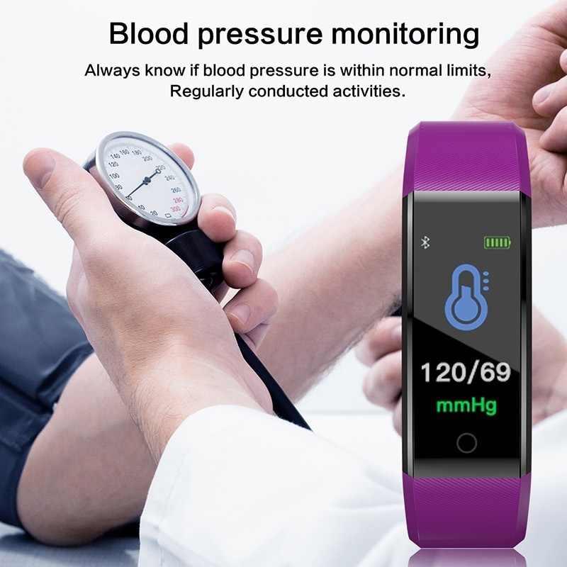 ID115 Plus سوار ذكي الرياضة معصم ساعة بلوتوث مراقب معدل ضربات القلب ساعة النشاط جهاز تعقب للياقة البدنية الذكية الفرقة