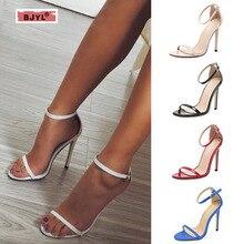 купить BJYL Summer Gladiator Platform Pump Shoes Women Peep Toe High Heel Shoes Woman Party Wedding Shoe High Heels Pumps Chaussure по цене 1920.49 рублей