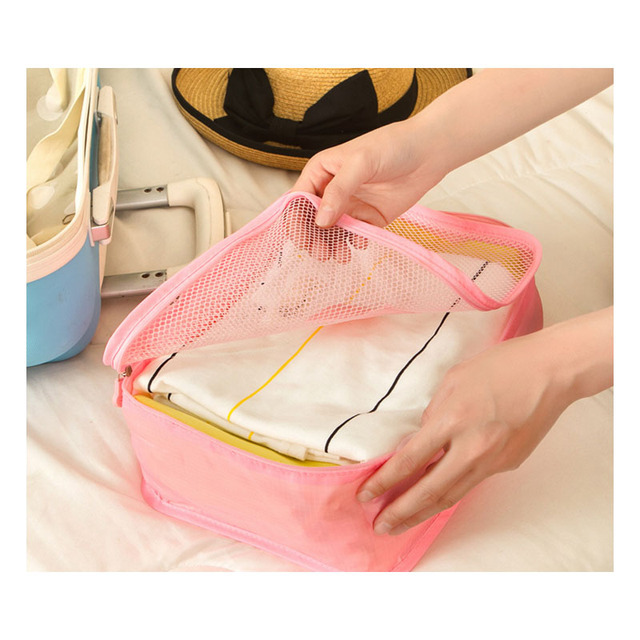 New Travel Accessories Bag 6 Pcs/Set Packing Cubes Polyester Bags For Clothes Luggage Packing Organizers Bag Luggage Covers