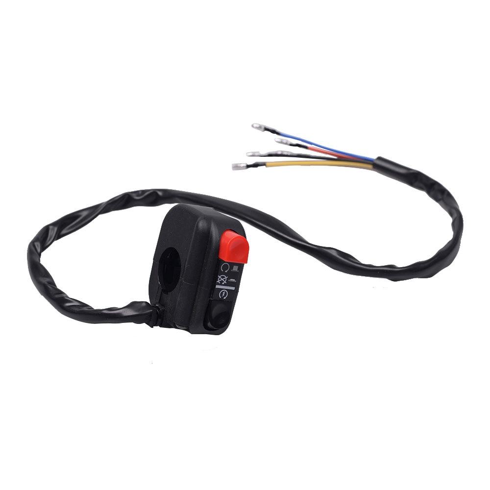 22mm 7/8 Motorcycle Handlebar LED Headlight Lamp Switch On Off Control Electrical Start Kill Horn Hazard Light for Harley Honda