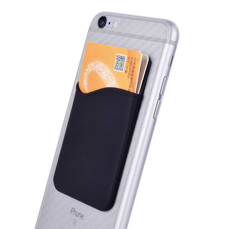 Cell Phone Card Holder >> Us 1 87 50 Off Cell Phone Card Holder Sticker Firmly Adhesive Stick Back Cover Credit Card Holder Pouch Pocket Wallet 2pc Pack In Card Id