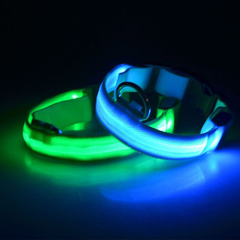 TTLIFE Night LED Collar Puppy Pet Glowing Flashing Light Up Harness Safety Light-up Flashing Glow in the Dark Lighted Cat Collar