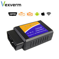Vexverm ELM327 OBD2 bluetooth/wifi V1.5 車診断ツール elm 327 obd ii スキャナ作業でアンドロイド/ios/windows 12 12v ディーゼル