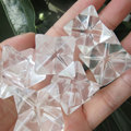 25mm Natural Clear Quartz Crystal Merkaba Star Carving for Crystal Reiki Healing Chakra Holiday Gift