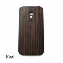 Original  Bamboo Walnut Ebony Teak Finish Rear Wood Back Battery Door Cover For Moto X 1st 1nd xt1058 xt1056 xt1060 xt1052 Black