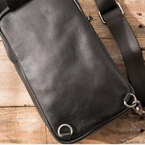 Image 5 - AETOO sacs à bandoulière en cuir véritable pour hommes, sacoche décontracté, petite marque, sac à épaule de styliste masculin, sac de poitrine