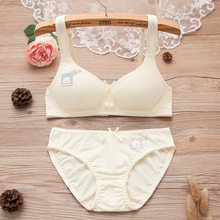 d4272a1bce2 Training Bras For Girls Soft Teenage Underwear Wire Free Child Bra Set For  Kids Cotton Bra Underwear For Children