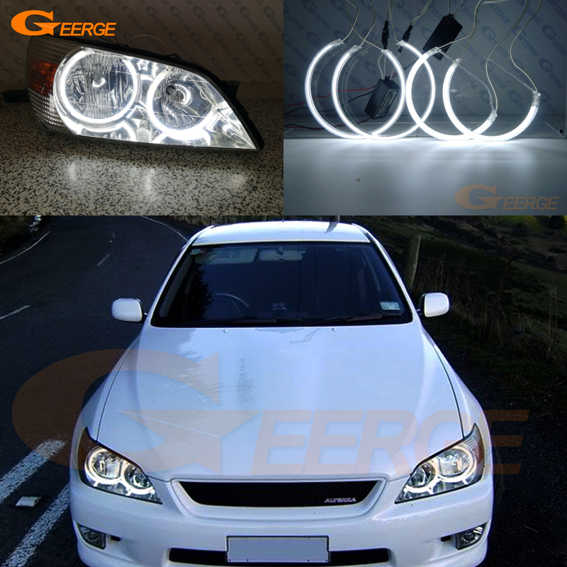 Pour Lexus IS200 IS300 IS 1998-2005 Excellents yeux d'ange Illumination ultra-lumineuse des phares Kit CCFL Angel Eyes Halo Ring