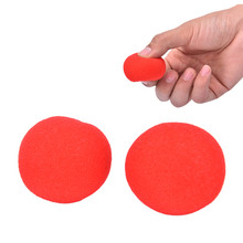 1Pcs 4.5cm Finger Magic Props Soft Red Sponge Ball Close-UP Street Classical Illusion Stage Comedy Tricks(China)