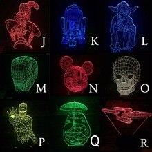 Star Wars 3D LED Luminarias Night Light Lamp
